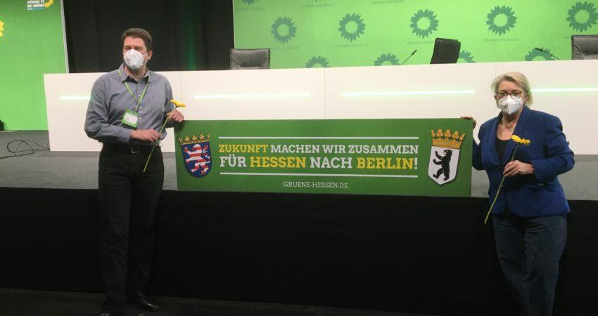 vrnl: Kordula Schulz-Asche (Listenplatz 3) und Christian Tramnitz (Listenplatz 14)